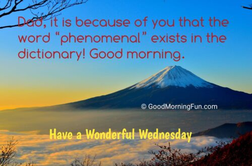 Happy Wednesday Quotes for father