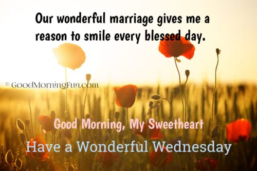 Happy Wednesday Wishes for Wife