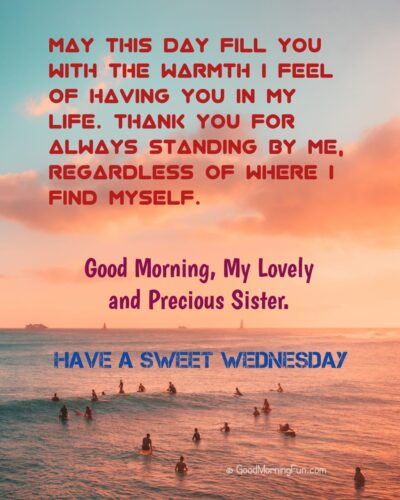 Wednesday Inspirational Quotes for Sister