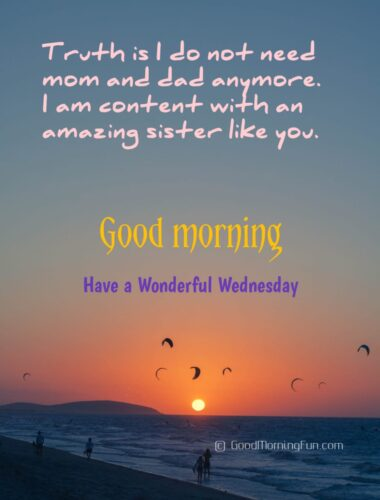 Wednesday Quotes for Sister