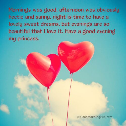 Best Good Evening my love quotes