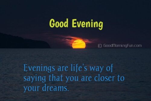 Cute Good Evening Wishes