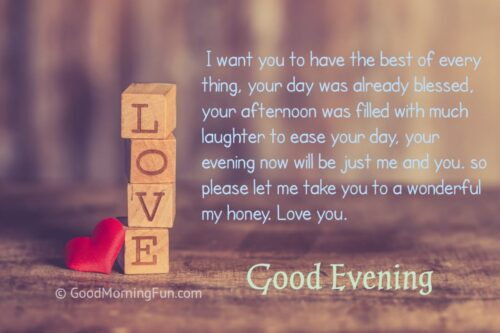 Good Evening My Love Quote