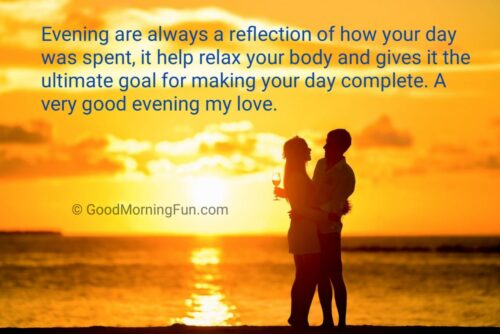 Good Evening romantic quotes