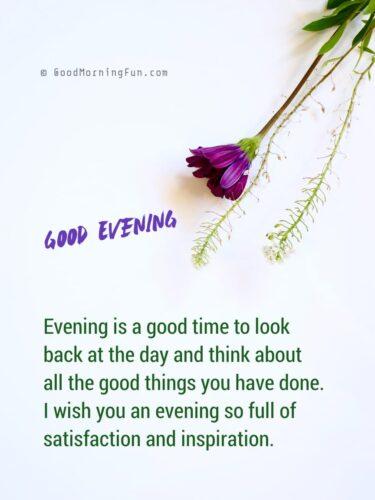 Good Evening time inspiration