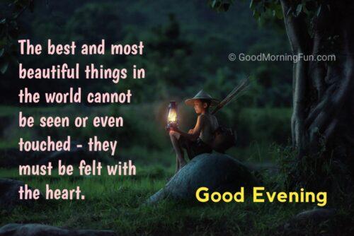 Heart touching Good Evening