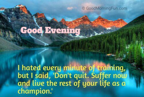 Motivational Good Evening Message